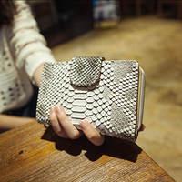 European And American Fashion Gradient Crocodile Snake Woman Retro Wallet Long\Short Purse Clutch Handbag Coin Bag  cw101