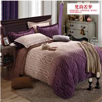 Indian style 100% cotton king queen sanding bedding set wedding gift  luxury  bedclothes thicken duvet comforter cover  sheet