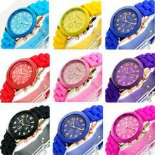 Fashion Geneva Unisex Silicone Rubber Sports Women Wrist Watch Jelly Gel Quartz(China (Mainland))
