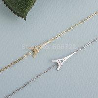 Wholesale Gold Silver Tiny Eiffel Tower H Bracelets Bangles geometric Jewelry For Women