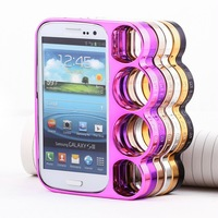 Cool Knuckle Style Brass Finger Rings Plated Hard Phone Case Cover Shell For Samsung Galaxy S3 i9300 GIFT!!!
