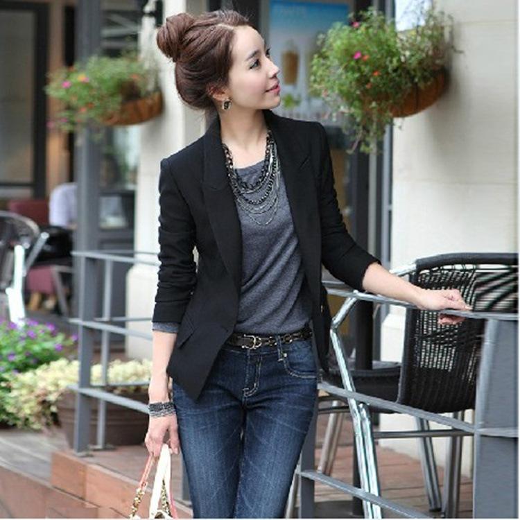 2014 mode veste à manches longues slim occasionnelsprix un bouton blazer femme veste manteau q299 outwear