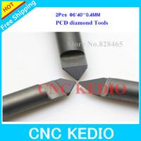 Free Shipping 6X45 AngleX0.4mm- PCD Diamond Router Bits, Sharp Diamond Engraving Bits for CNC, Hard Granite Stone Lettering