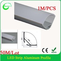 Hanks 1M Led Profile Anodized diffuse cover aluminium led lighting profile triangle for the corner width up to 20mm  50M/Lot