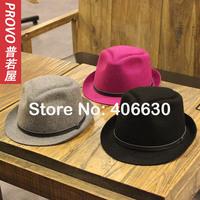2014 winter NEW vintage wool felt  fedora hats for women, chapeau feminino, panama hat, top hat, free shipping