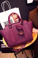 2014 new autumn and winter fashion women bag Korean fringed lip smiley wild portable shoulder casual handbags free shipping
