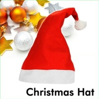 Hot Fashion Christmas children hats cotton + Red velvety plush hats Christmas holiday Hat with christmas gift