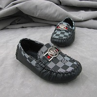 Spring Autumn Winter Children Leather Moccasins Loafers Kids boys sneakers kids sports Plaid shoes Taeoalkajef Jaweopia