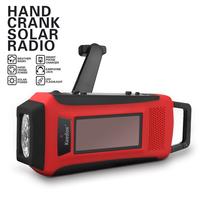 New Gift ! Emergency Solar Hand Crank Radio with AM/FM/NOAA Phone Charging Flashing Light (Original Quality )