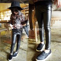 Wholesale 5pcs/lot Baby Girls PU material black leggings 5pcs/lot