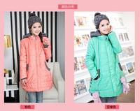 Autumn Winter Plus Size Loose Medium-Long Fat Women outerwear Pregnant Coat Maternity Hooded Jacket