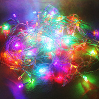 Holiday Outdoor 100X LEDs Changeable color String Lights 10M 220V 110V Christmas Xmas Wedding Party Decorations Garland Lighting