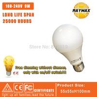 Dimming bulb Led dimmable bulb E27 110V/220V 9W Led Bulb E27 360 Degree Energy Saving Light 10pcs/lot