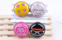 (4pcs/lot) New arrival lovelu iron box Moisturizing Lip Balm for lips genuine flower Lip smackers light colors maquiagem