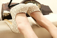 2014 round spring shoes sexy stilettos lace surface single shoes shoes red wedding shoes  759