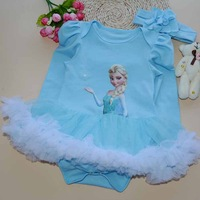 2015 new Baby Rompers Underwear pajamas boys girls long sleeve One-piece Romper frozen elsa baby jumpsuit 0-12 moths