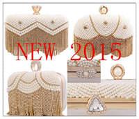 New !!! brand bolsa design Luxury diamond tassel tassel vintage beaded women bag wallet patchwork purse chains handbags Free