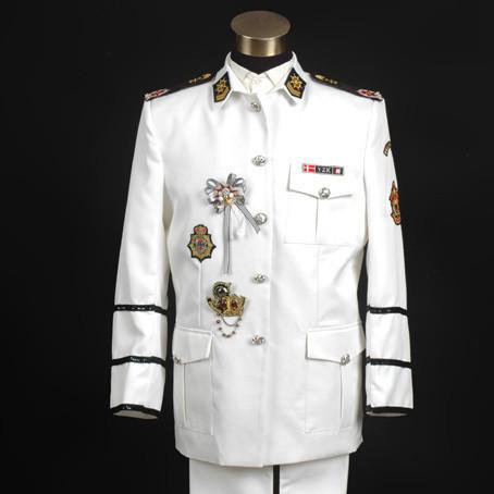 [해외]2014 핫 흰색 밀리터리 밴드 공식적인 드레스 남성의 패션 의..