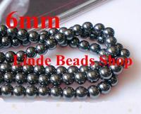 Free Shipping 6mm Black Hematite Beads, Shamballa Findings bead for bracelet 216pcs/lot