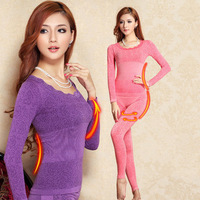 Thermal Underwear Women 2014 Hot Sale Winter Warm Long Johns Underwears Top + Pant Sexy Slim Comfortable