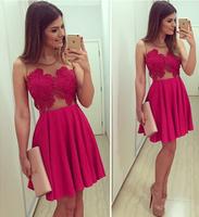 AliExpress 2014 explosion models hot Christmas red v-neck dress female Lei mesh yarn stitching dresses
