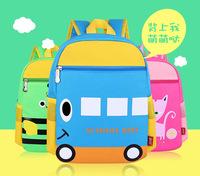 2015 new zipper waterproof cartoon children school bags kids backpacks mochila infantil sports bag  for kindergarten girls boys