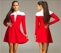 2015 Sexy Vestidos Spring Winter Dress Women OL Work Casual Dress Evening Party Dresses Slim Bodycon Peter Pan Collar Dress