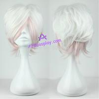 Diabolik Lovers Sakamaki Subaru cosplay wig short wig mixed color wig ACGcosplay