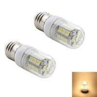 2pcs/lot High brightnes E27 27 5050 SMD Warm White 2800-3200K /White LED bulb AC 220V 240V LED Lamp High Quality Led Corn Light