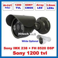 HD Sony 1200TVL Outdoor Waterproof Video Surveillance IR-CUT Filter Security 3 pcs Array Leds Night Vision IR 30M CCTV Camera