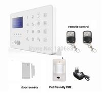 App android GSM Security Burglar Alarm System Detector Sensor Remote Control,German,Czech,French,spanish,Polish,Russian,English