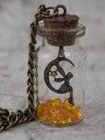Fairy bottle necklace legend of zelda November birthstone orange NK219