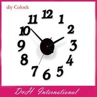 2014 New Arrive!! DIY Digital Wall Clock Modern Art Wall Clocks Watch Unique Gifts Home Decoration