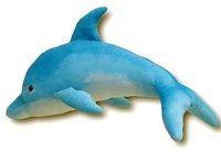 "GIANT HUGE BIG 30"" BLUE PINK DOLPHIN STUFFED PLUSH ANIMAL / Free Shipping"