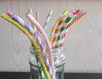 Free DHL Shipping Stripe Paper Straws Bendy Paper Straws Bendy Drinking Paper Straws Stripe Paper Straws Mix 10000pcs