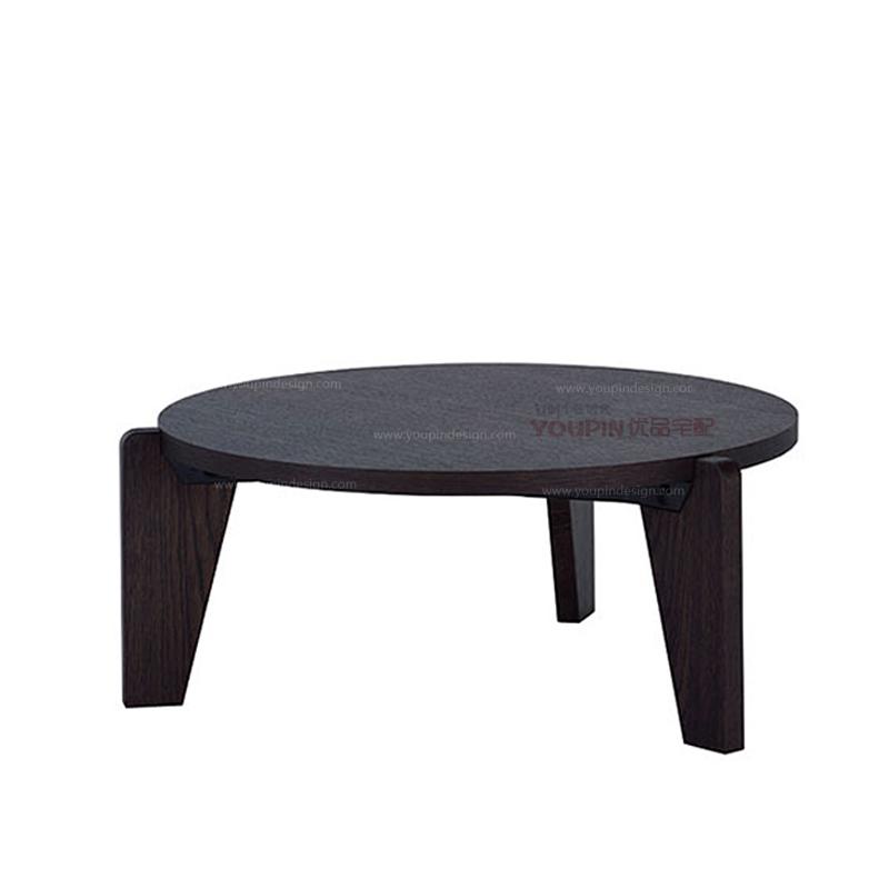 Scandinavian modern style round red oak black oak coffee table tripod creative new ideas minimalist designer furniture(China (Mainland))