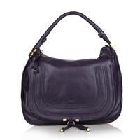Top quality original brand marcie saddle genuine calf leather purple handbag shoulder bag fashion gift free shipping wholesale
