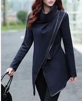 2015 Winter Coats Women Long Cashmere Overcoats Trench Desigual Down Jackets Designer Woman Wool Coats Plus size M-3XL Plus size