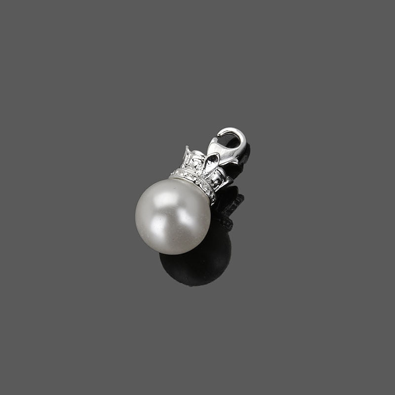 Super deal plating silver thomas Style One pearl charms ts310 Factory Wholesale Jewelry(China (Mainland))