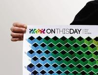 THE HISTORY ON THIS DAY CALENDAR / Heat Sensitive Wall Calendar Perpetual Calendar