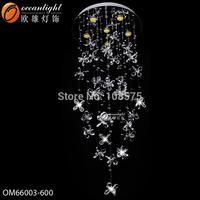 LED Crystal Chandeliers Lights Lamps For Bedroom Dining Room Hallway Hotel,AC110-220V Round Ceiling Crystal Pendant Lamp OM66003