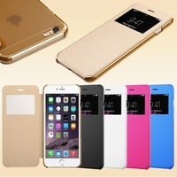 Flip Leather Case With Frame For Apple iPhone 6 Plus Smart Front Window S-View Cases PU Leather Flip For iphone6 i6 Covers
