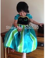 1 pcs Retail,Frozen Princess Coronation Dressing Anna Ballgown Princess TUTU Dress For 2-6 Year Kid Girl,wholesale