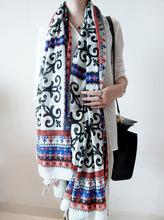 2014 winter women casual Vintage scarf Floral Pashmina Shawl cachecol feminino female scarves Big scarf(China (Mainland))
