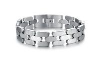 Wholesale 2015 New HOT Fashion Jewelry Silver Bracelets Bangle Titanium Steel Bracelet for men 3pcs/lot, BC1681