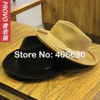 2014 winter new wide brim wool felt fedora hats for men, wool chapeu panama hat, sombrero,  free shipping