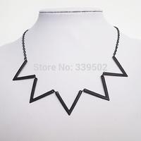 6pcs/lot latest fashion women jewelry accessories metal v shape link necklaces 2015