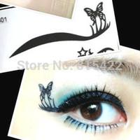 Eyeliner double eyelid mohini smoked makeup natural cat-eye rhinestone stickers Free shipping