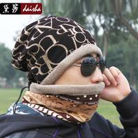 Male winter toe cap covering cap outdoor ride hat collars male hat winter windproof hat