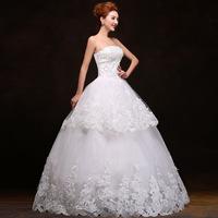 Life with 2014 new fashion wedding dress upscale Korean Bra princess diamond lace wedding dress